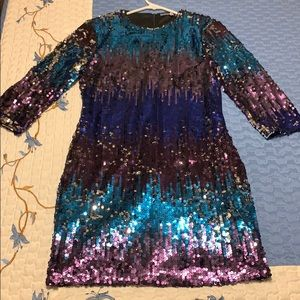 Sequin/ombré cocktail or homecoming dress